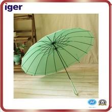 24''*16k beautiful pure color self-opening straight umbrella