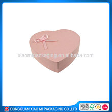 fabric covered heart shaped gift boxes