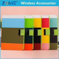 2014 New Arrival Rainbow Stripe Pu Leather Case For Ipad Mini Official Phone Case