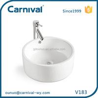 Alibaba china caremic bowl shape closet wash basin V183
