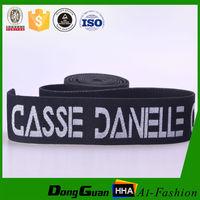 Black ribbon woven nylon elastic stretch band
