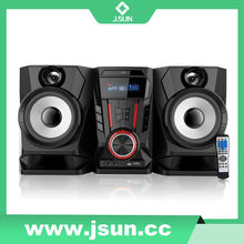 USB subwoofer speaker/ high quality loudspeaker with two microphones loudspeaker box