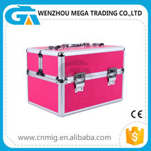 Hand Made Manufacturer Cosmetic Box Type and Aluminum Makeup With Tray