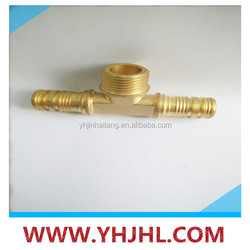 Brass Compression Tee Pipe Fitting,Made in China Plastic Barb Thread Hose Connctor,Y Shape Hose Connector