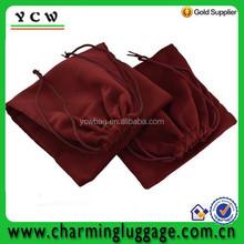 Fashion velvet shoe bag/drawstring shoe bag