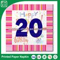 festa de aniversário decoração de impressão de papel de guardanapo