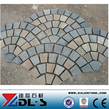 Chinese Slate Patio Pavers Lowes with Black, Yellow, Rusty Color