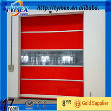 Automatic industrial high speed rated fire pvc door/high speed out door roll up shutter