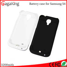 Backup battery charger case for Samsung Galaxy S4 I9500 3200mah power pack case for Samsung galaxy s4 case wireless charger
