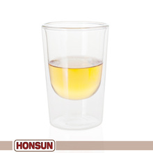 Sample customized made of durable the sides of this glassware are double-walled round shot glass mugs
