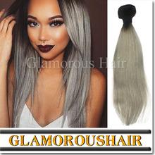 2015 September new arrivals 100% virgin Peruvian hair, factory wholesale hair extensions grey human hair