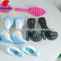 Small Plastic Shoes, Plastic Doll Shoes,Custom Made Costumes for Toys