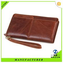 Leather travel wallet men genuine leather wallet manufacturer