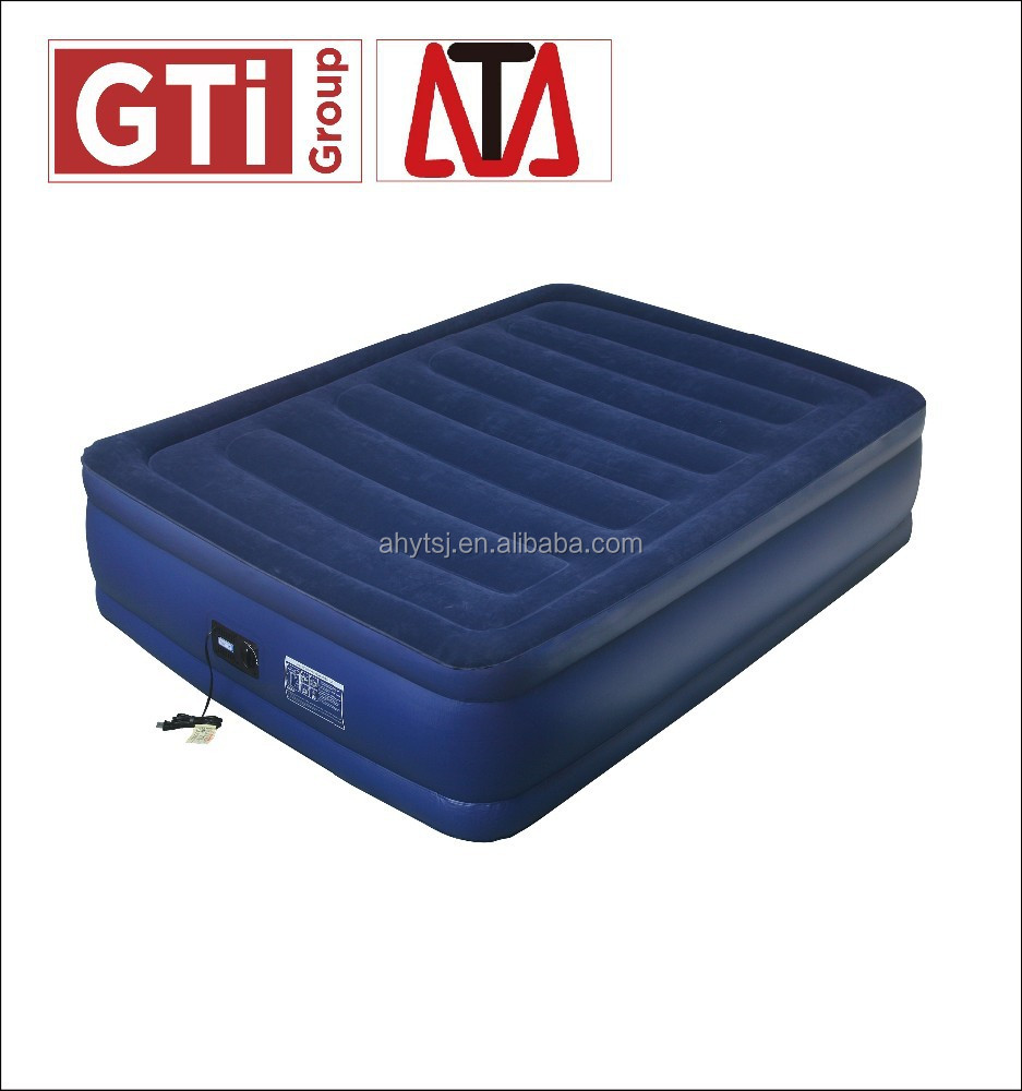 Luxurious and high quality raised inflatable mattress