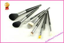 8 pcs makeup brush set black cosmetic brush set copper Travel brush sets
