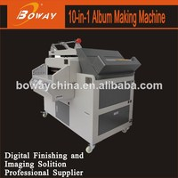 Heat and cold binding 10 in 1 hardcover bookbinding machine
