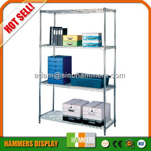 Adjustable household chrome wire shelf, wire mesh rack