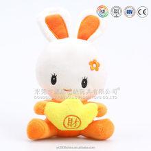 Funny knitted lovely China rabbit plush stuffed dolls