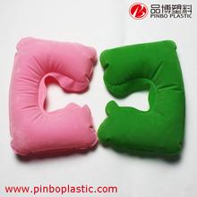 neck pillow,U shape inflatable pillow,Custom PVC+PVC flocking Inflatable Travel Pillow