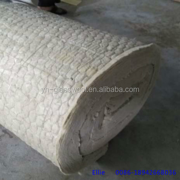 Rock wool with wire mesh mineral wool mattress sewed wire for Mineral wool blanket insulation