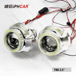 Wholesale Price Motorcycle Hid Xenon Light, H4 Projector Headlights With Halo Angel Eyes