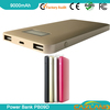 portable golf mobile power bank mobile power bank 9000mah icelectricifor christm with digital LCD display /dual USB output