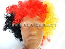 Party Wig Fashion football fans wig Curly wig top fillers collection afro mambo hairpiece