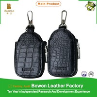 High quality leather zipper volvo key cover & vchevrolet key cover & personalized key cover