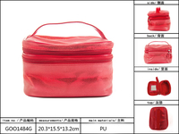 Cheap Travel bag fashion PU Leather hot selling cosmetic bags 20.3*15.5*13.2 cm