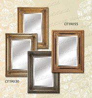 Classical design delicate wooden framed mirror full length decorative wall mirror frame