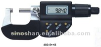 """480-510B 0-50mm/1-2"""" x 0.001/0.00005"""" Four-Button Electronic Digital Outside Micrometer"""