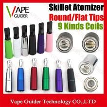 Dry Herb Wax Atomizer Skillet Atomizer Dual Ceramic Coil Titanium Wire Double Rod For EGO Battery Atomizer Skillet