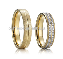 fashion jewelry stylish matte ring 316L stainless steel couple ring OEM & ODM jewelry factory
