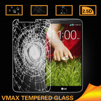 0.2mm Removable Anti Shock Glare Clear Mobile /Cell Phone LCD 9H Straight Edge Premium Tempered glass screen protector for LG G2