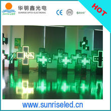 8years history for 3D Led pharmacy cross display /Croix de pharmacie led production, bluetooth controller led pharmacy cross