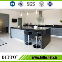 Hot sale black solid surface for kitchen countertop