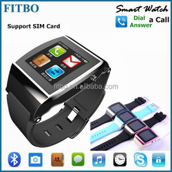 Latest Android IOS System cheap watch phone with 1.3MP Camera