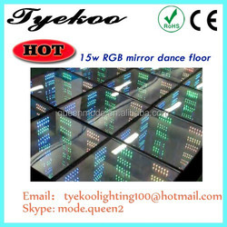 led dance floor china hand blown glass figurines 96 pcs RGB 3d led dance floor