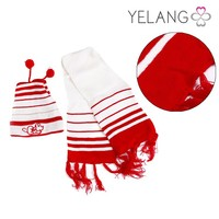 boy girl winter fashion handmade knitted hat scarf sets