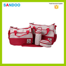 5 pieces mummy tote shoulder bag baby diaper nappy bag, newest nylon maternity bag