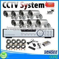 4CH CCTV System Kit 720P/960H Recording Home Security DVR ds-2cd2732f-i professional security system