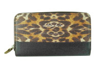 2015 women wallet,wallet cell phone case,leopard pattern PU leather wallet with coin slot
