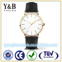 High end quality product stainless steel genuine leather mens designer wrist watches