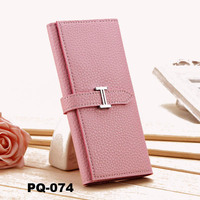 Fashion wholesale lady wallet long H buckle low price ladies pars hand ladies wallet 11 colors