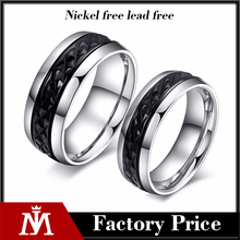 Fashion Design Stainless Steel Luxury Titanium Weddign Rings Set for Bridal Jewelry