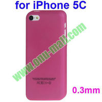 0.3mm Ultrathin Frosted Transparent Plastic Hard Case for iPhone 5C(Rose)