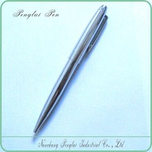 2015 high quality promotional stationery,metal bright silver shiny chrome pen