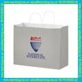compras saco de papel kraft branco com o logotipo