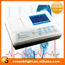 Digital 3 Channel 12 lead ECG/EKG machine + software Electrocardiograph, Printer
