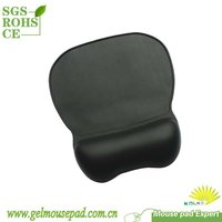 Ergonomic Fake Leather Mouse Pads With Gel Pad